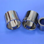 Tungsten steel sleeve processing for cement slurry production with tungsten steel inlay pipe